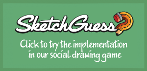 Click to view Sketch Guess, the social drawing game, implementation.